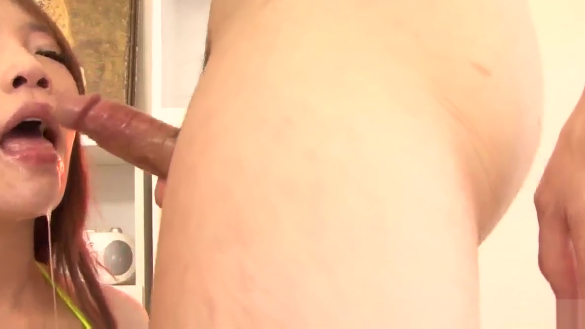 Young Aoi Yuuki throats dick until all covered in jizz Bodyshaking Orgasm