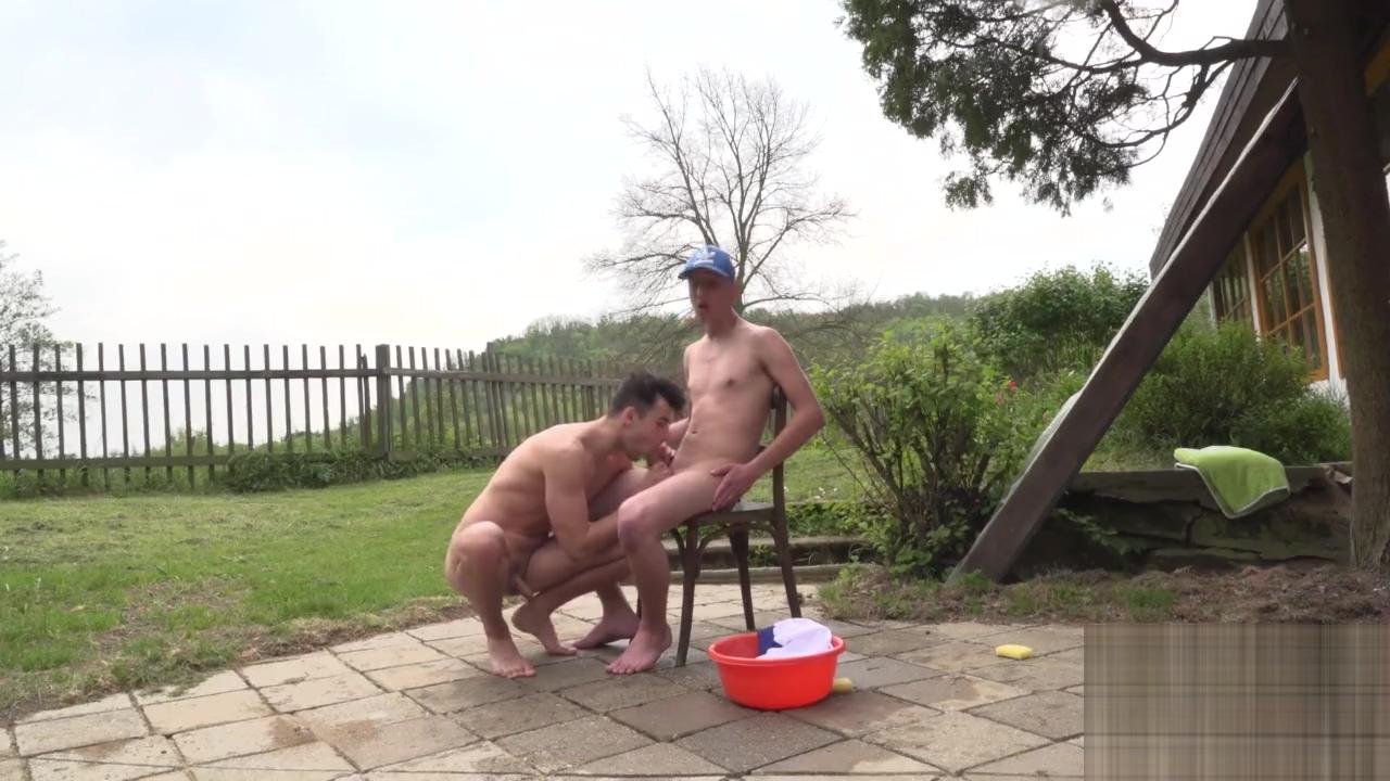 Hung twinks play wet outdoors Dani Leon Xxx