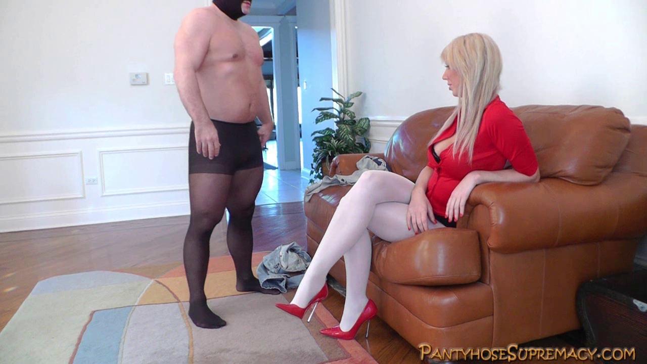 Mastix Alexis tall golden-haired Female-Dominator punishes Johnny Sins Karina White