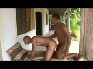 Gay hunk with dark skin is having an anal fuck Bare Back Writher Rug Muncher Whipping