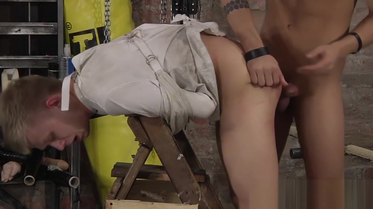 Blonde twink Chris spanked and fed with cum by David Ebony big tits with large areolas