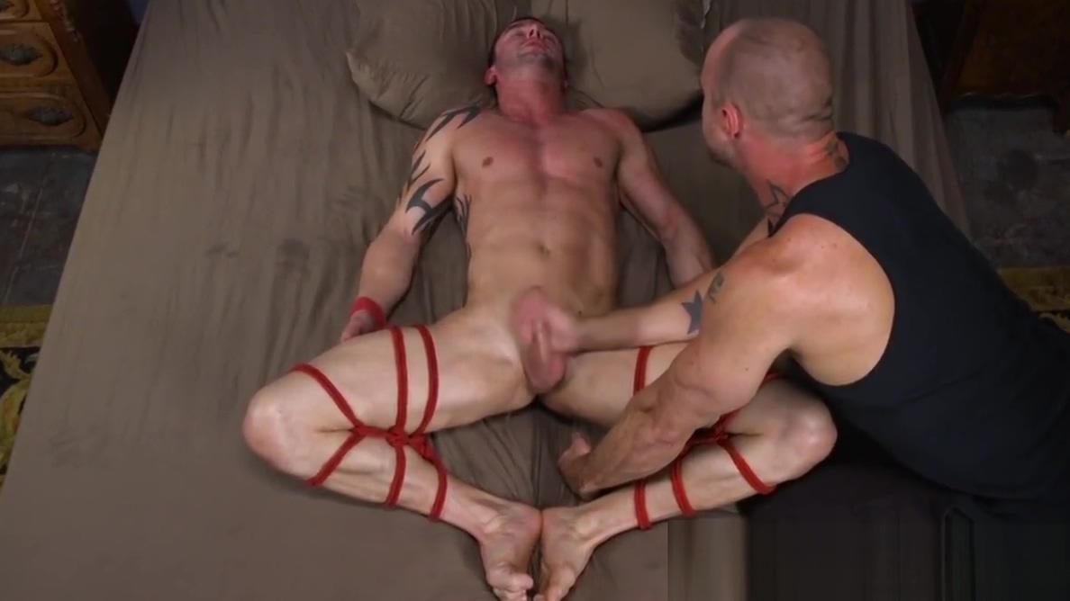 Cocksucking dom jerks and edges tied up sub Senoir women masturbation pic