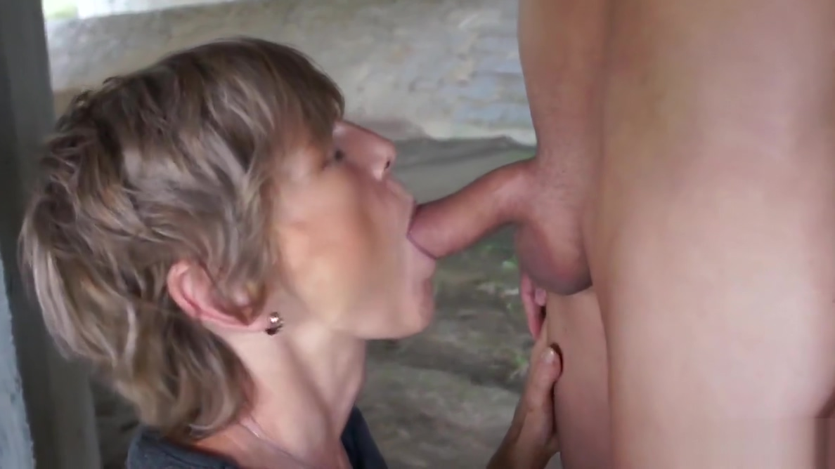 Horny old cougar tapes up her young toyboy and sucks him off granny fucking porn tubes