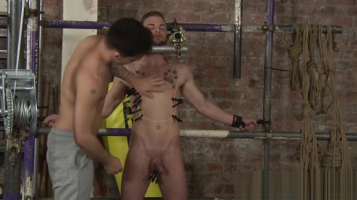 Koby Lewis is bound and clothespin tortured by Jack Taylor fuuny chewing tobacco pictures