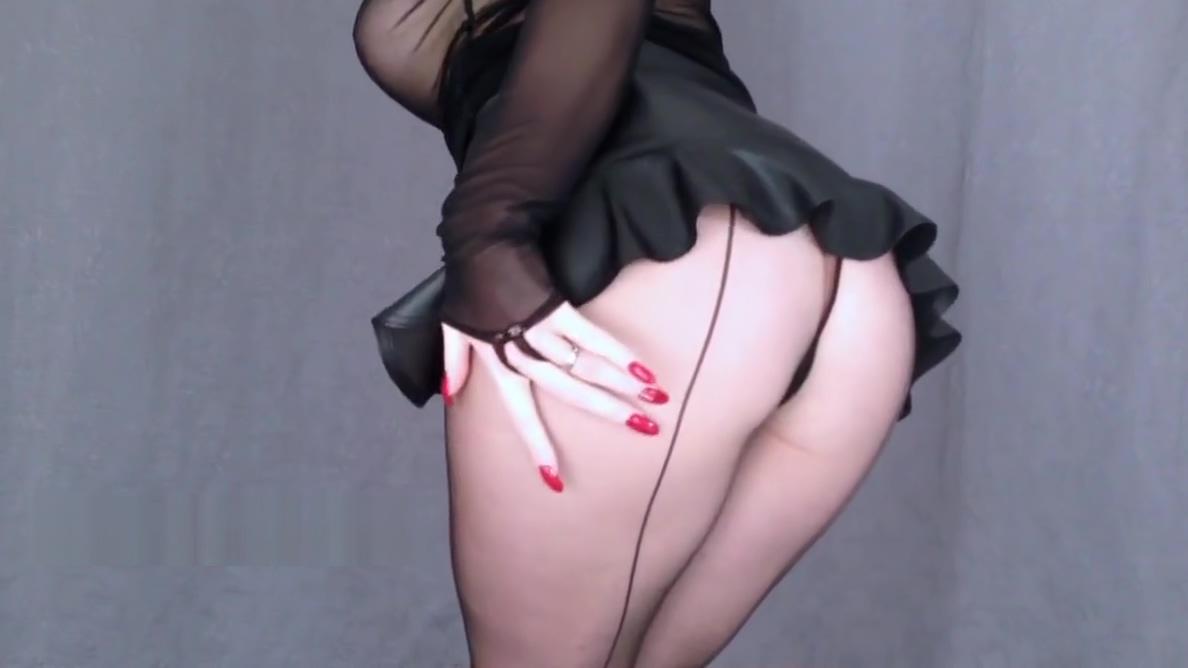 Miss Adrastea Black Nylon and Red Nails