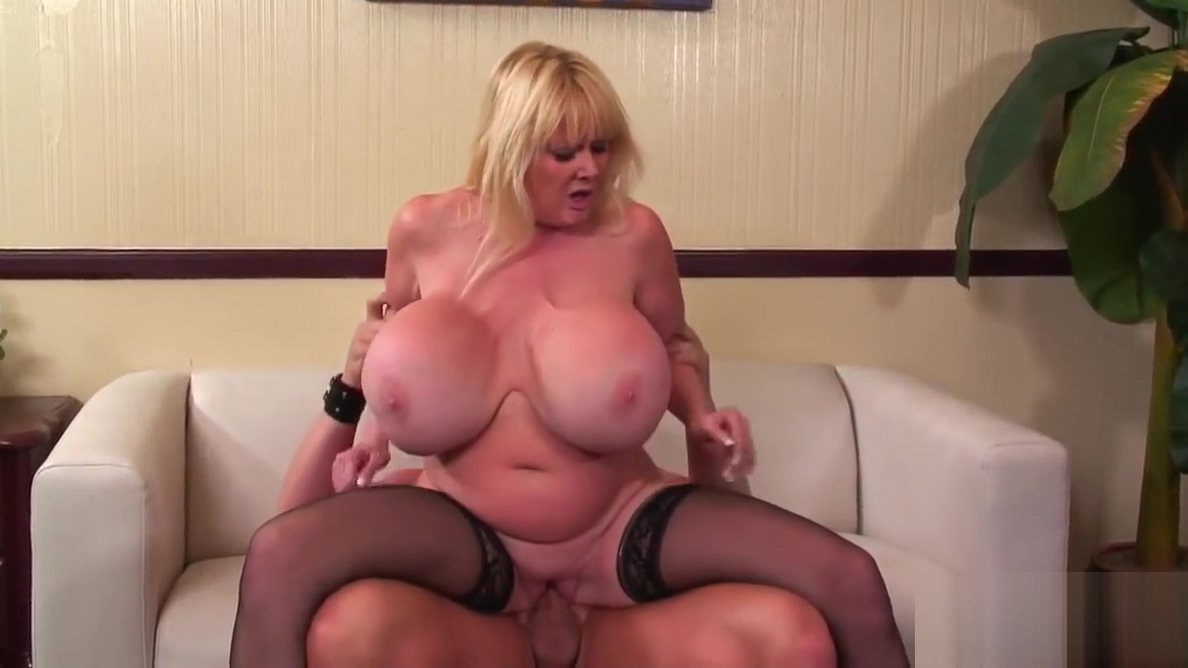 Giant boobed mature woman fucks and eats cum Pov fingering myself