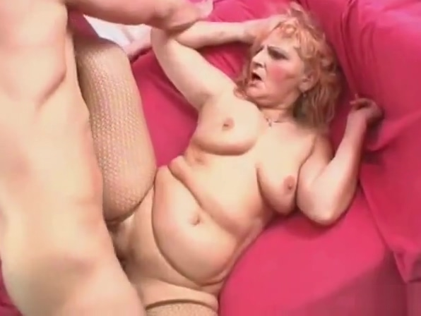 Sexy blonde granny prefers young dick
