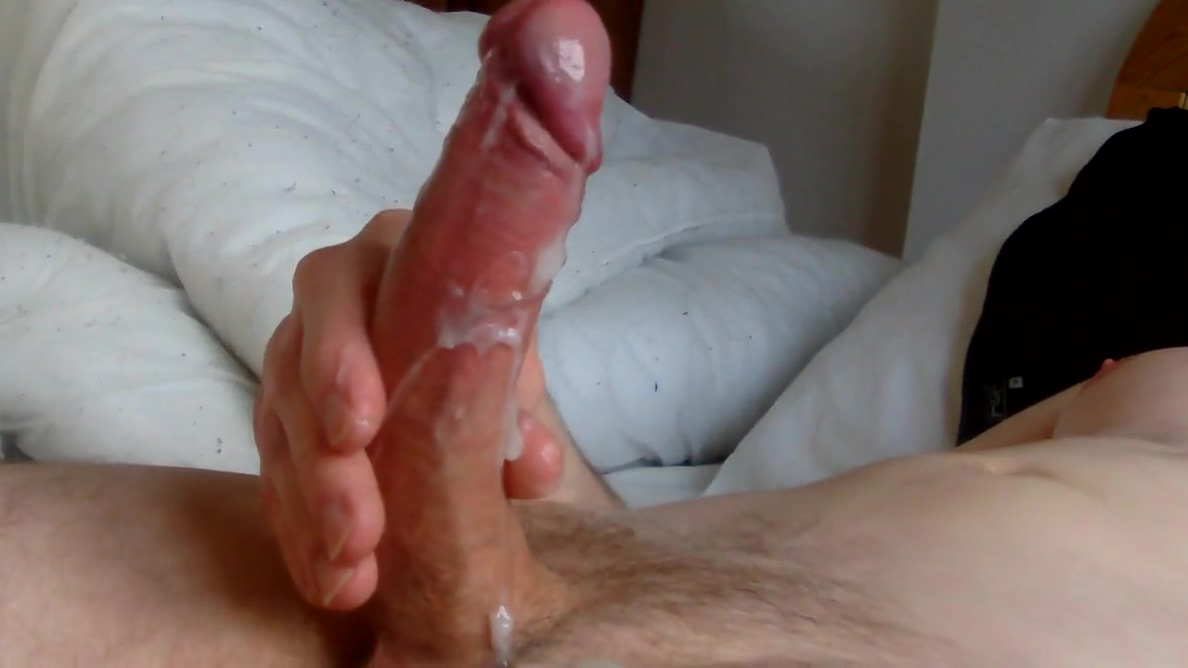 wanking my big cock in bed - lots of cum free jessica alba sex