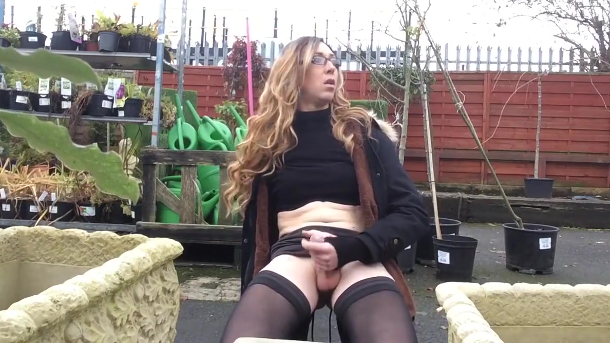 Horny Crossdresser Masturbating In Public Garden free sex wife stories