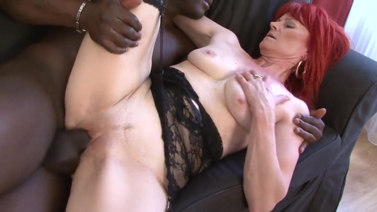 Interracial Mature Redhead 298 Man get ass fuck hard