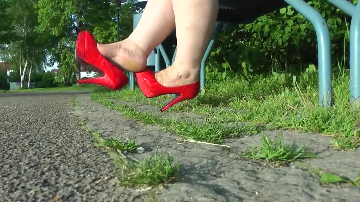 Walking red shoes Mature student nursing courses