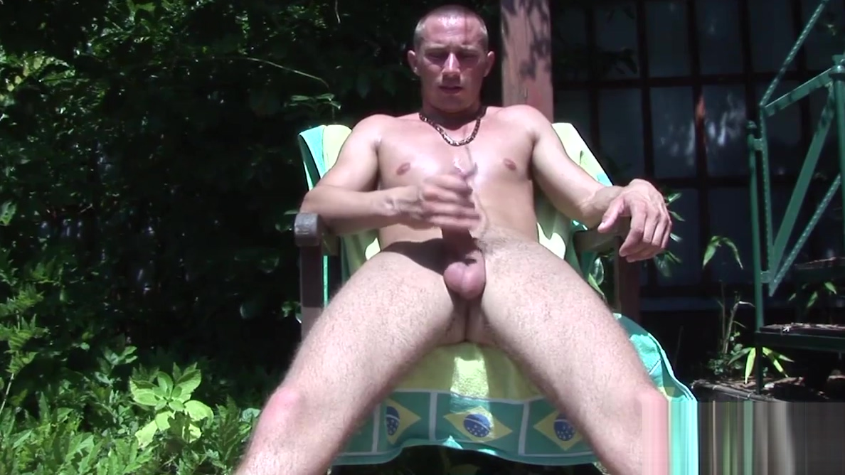 Hot dude Armani enjoys jacking off his dick under the sun Charlotte mkenny nude boobs