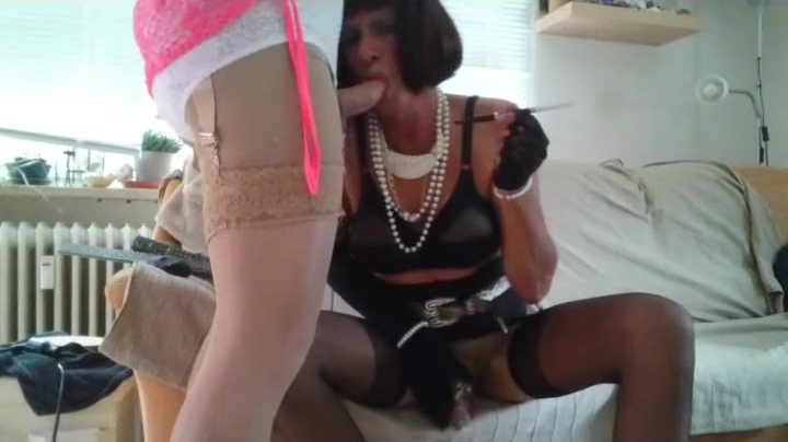 crossdresser bj and smoking Sexy girls in tight cloths