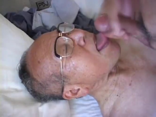 Japanese old man 33 Assholes spread and licked