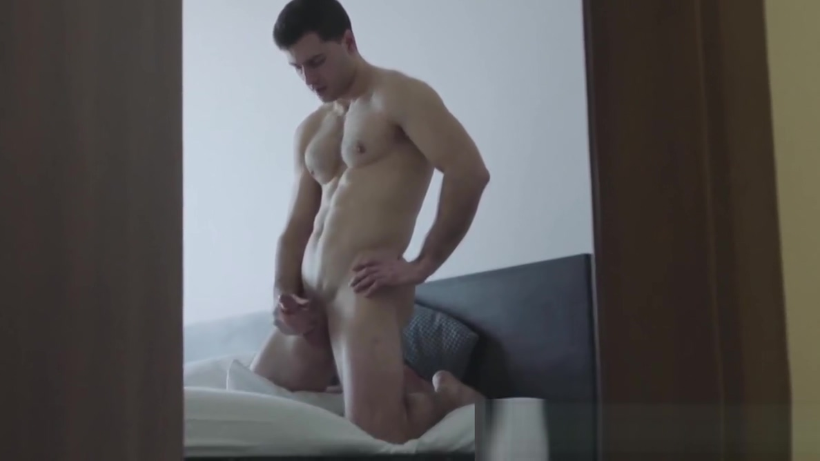 Amazing muscular stud wastes no time jerking off alone Nude busty gif