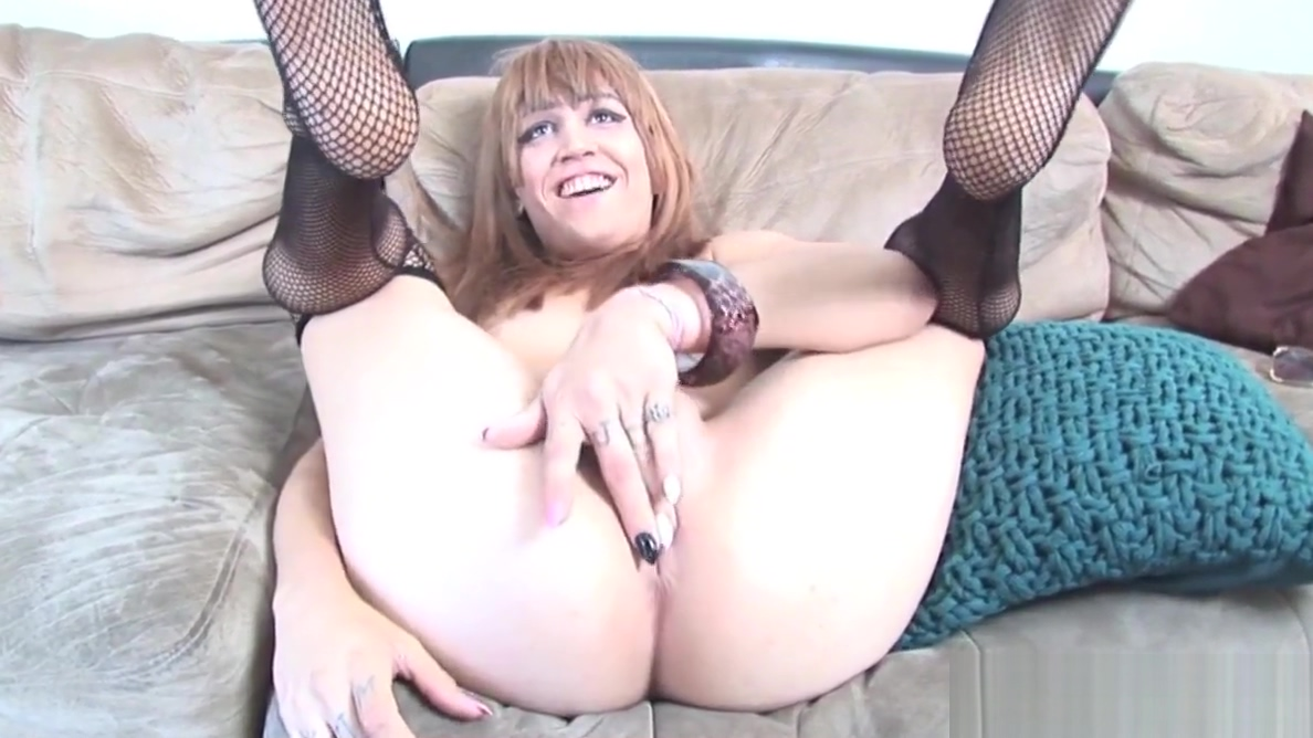Young trans beauty rubs cock on casting couch Sexy blonde lesbians eating pussy