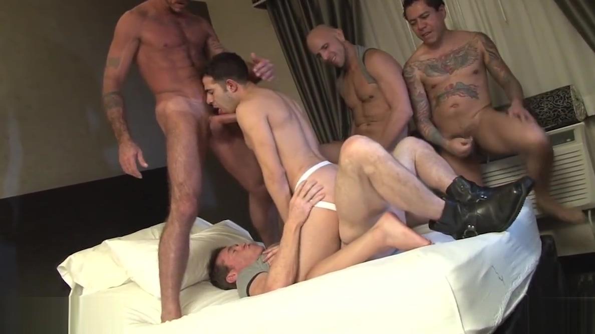 Bruno Knickerbocker Gangbang Horny babe masturbates at webcam