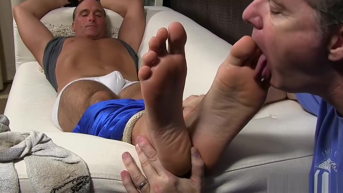 Mature dude Sebastian tied up for feet licking and sucking Ameteur web girls interracial sex