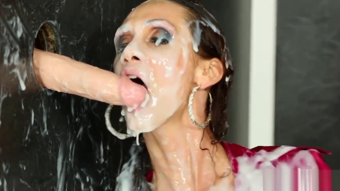 Pantyhose babe bukakke covered at gloryhole girl bare pussy romene