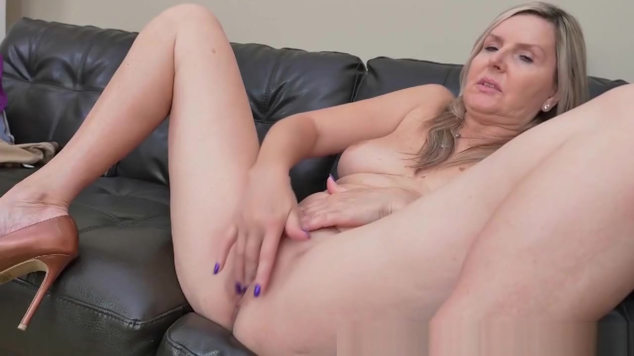 Gorgeous Blonde Milf on her Own Big Black Cock In Ass
