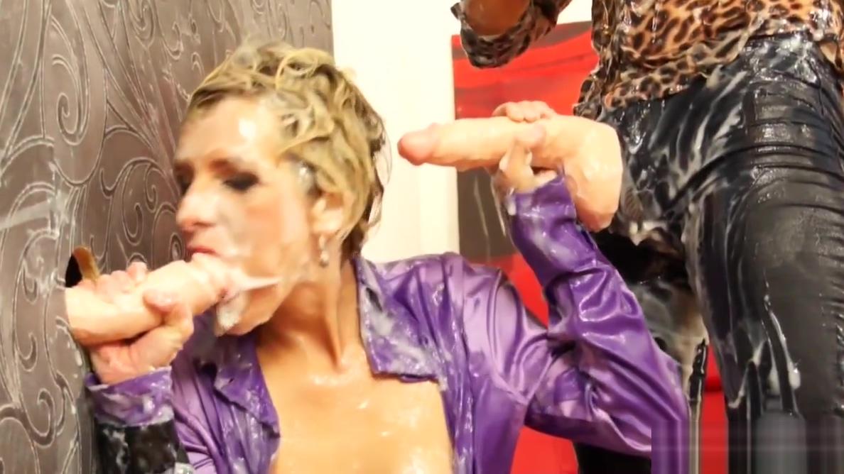 Gloryhole lesbian strapon fucks bukkake pussy Sex in the shower naked
