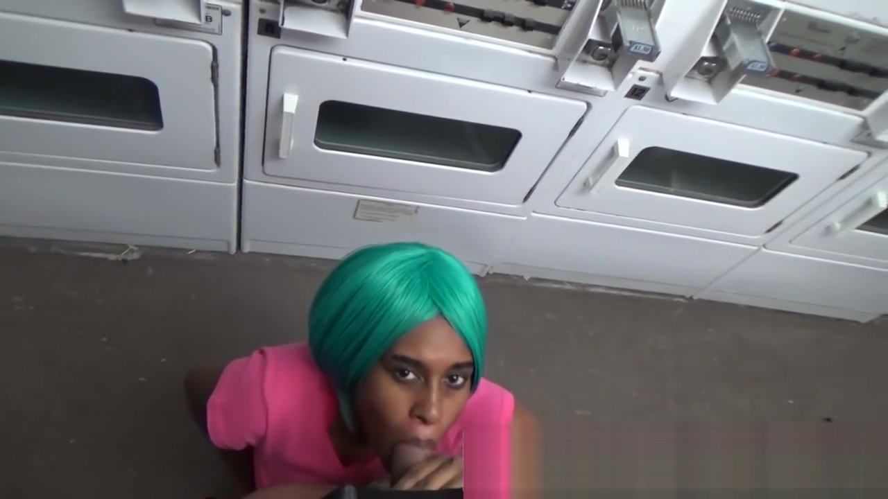 Fuck Stranger Ebony Teen Cute Amateur Blowjob Public In Laundromat Head 18