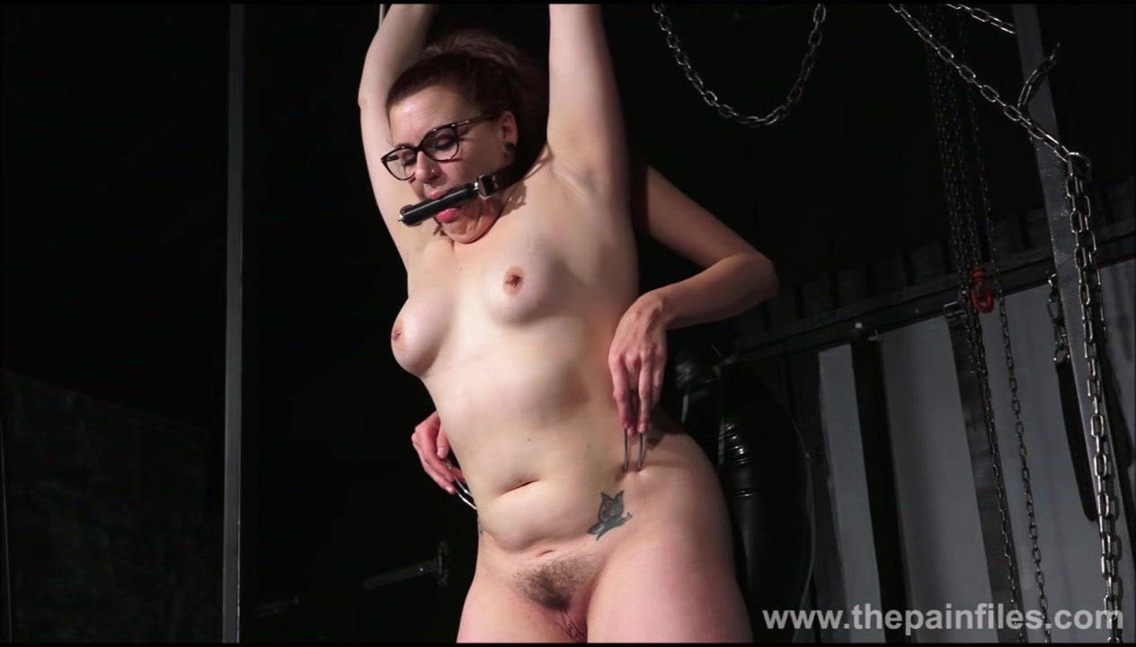 Lesbian whipping of slave Isabel Dean in painful femdom spanking and hardcore lezdom bondage of amateur bdsm submissive