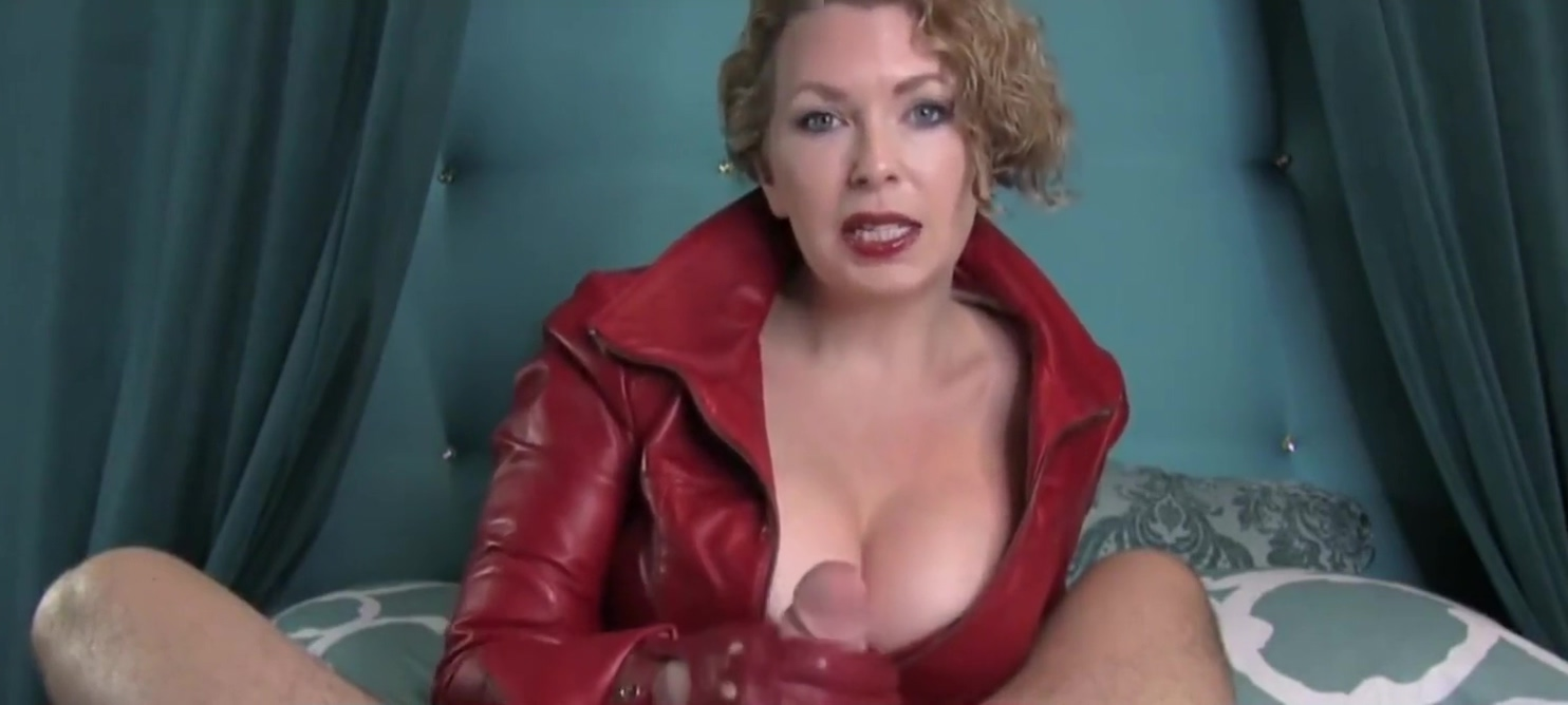 Dominatrix Handjob in Red Leather Gloves Music By ivvill College frat sex couple