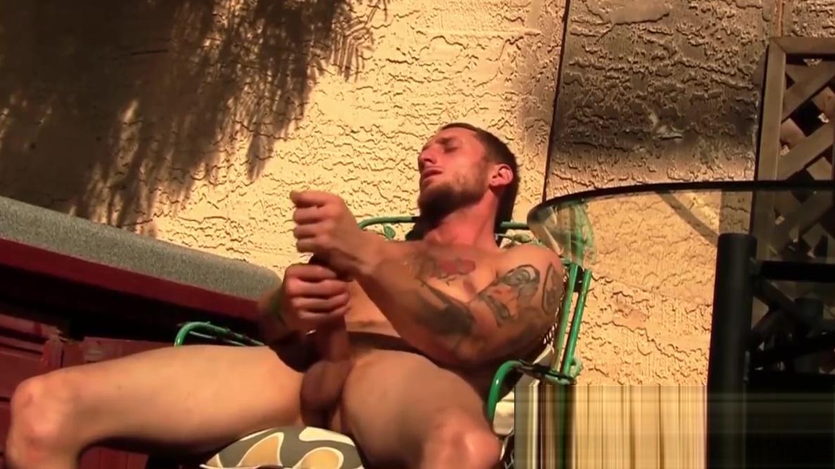 Inked jock athlete swinging balls and masturbation outdoors Family Manipulation