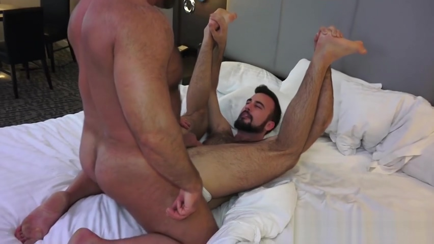 Nasty homosexual dudes have hardcore barebacking session Husband gives wife hand job