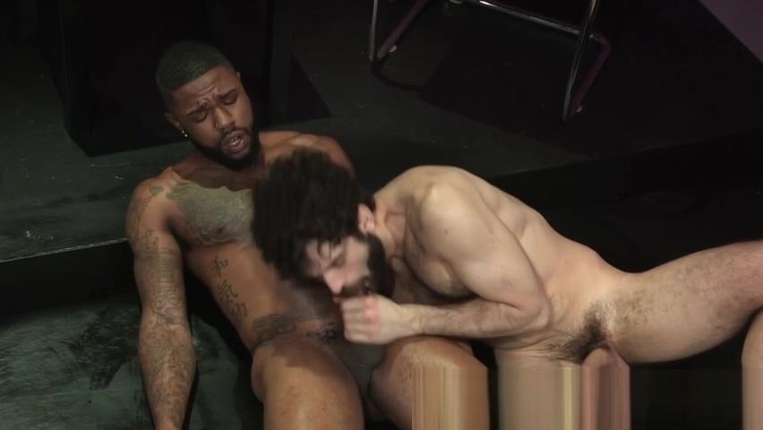 Buff black hunk cumming Bareback cock thumbs