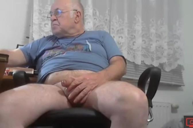 grandpa, with big balls Britney sucking cock