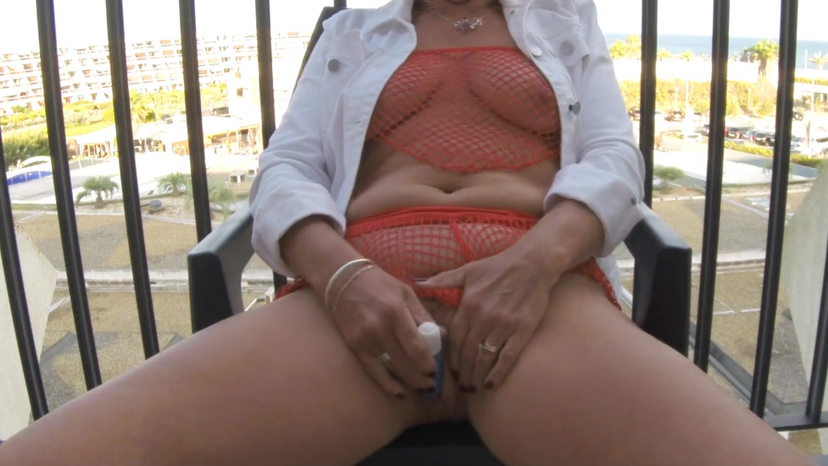 Cumming on the deck at cap D Agde Naked and funny best tits