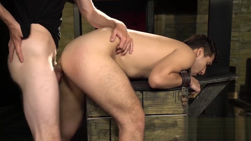 Jock Valentino Moran chained before anal domination gansta girl strapon porn