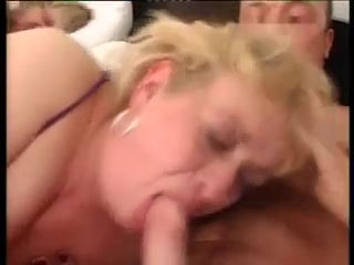 Blonde Grandma Threesome Valeria kruk naked boobs