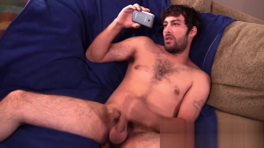 Hairy gay with shaved balls strokes cock while watching porn Best wife ass