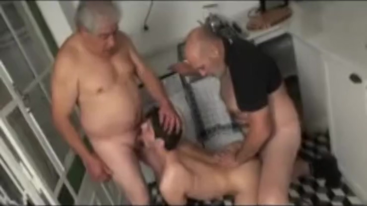 Twink and the two grandpas Happy hentai final fantasy