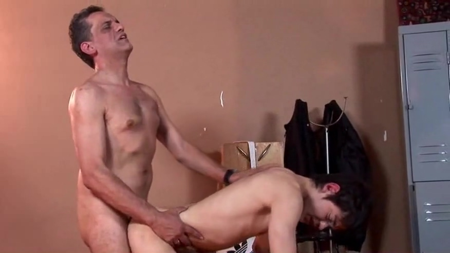 Horny Boy & Dad Fuck In The Lockerroom leg workout for woman