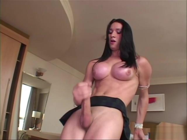 Busty brazilian TS jerks off her shecock Nurse sex porn photos