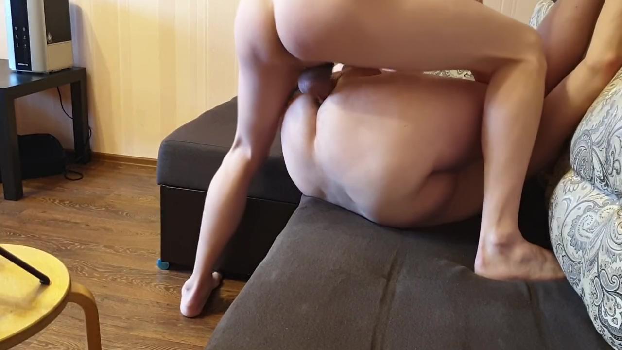 I fucked my boyfriend hard. He enjoyed my big cock slim with huge breasts