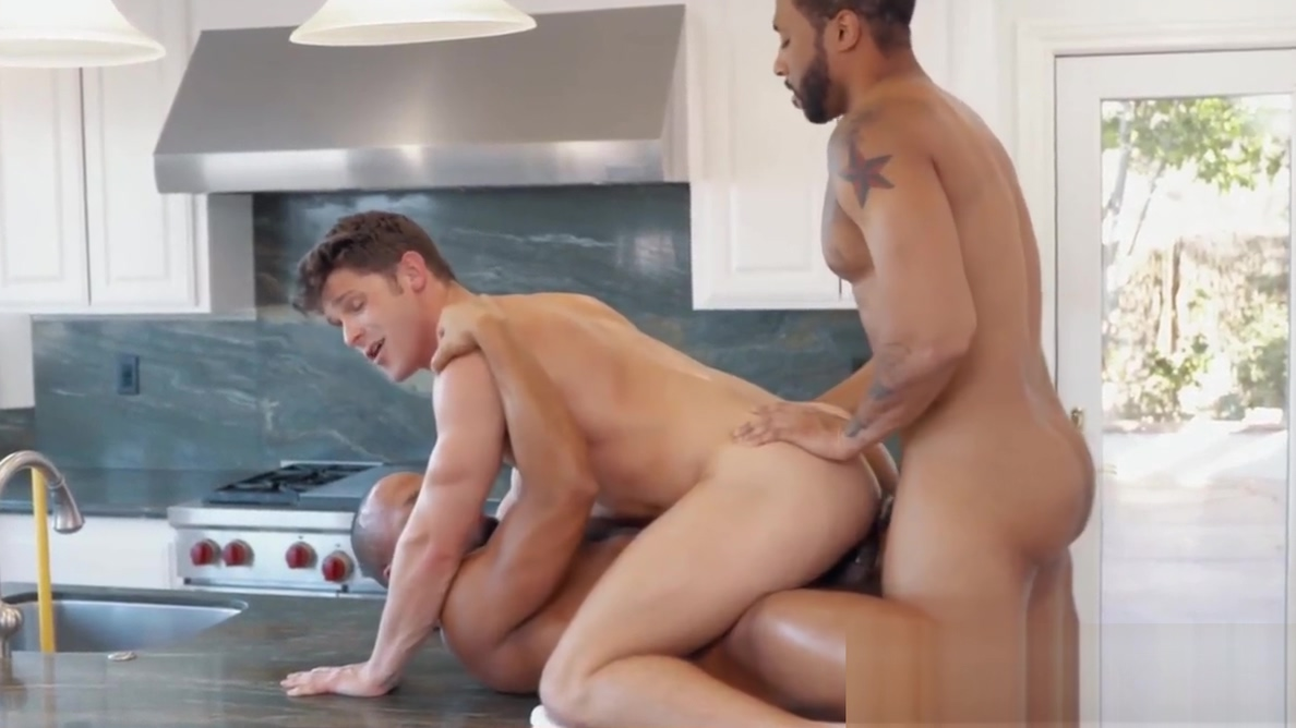 Rich white gay double analled by two black hunky plumbers Milf trinity powers