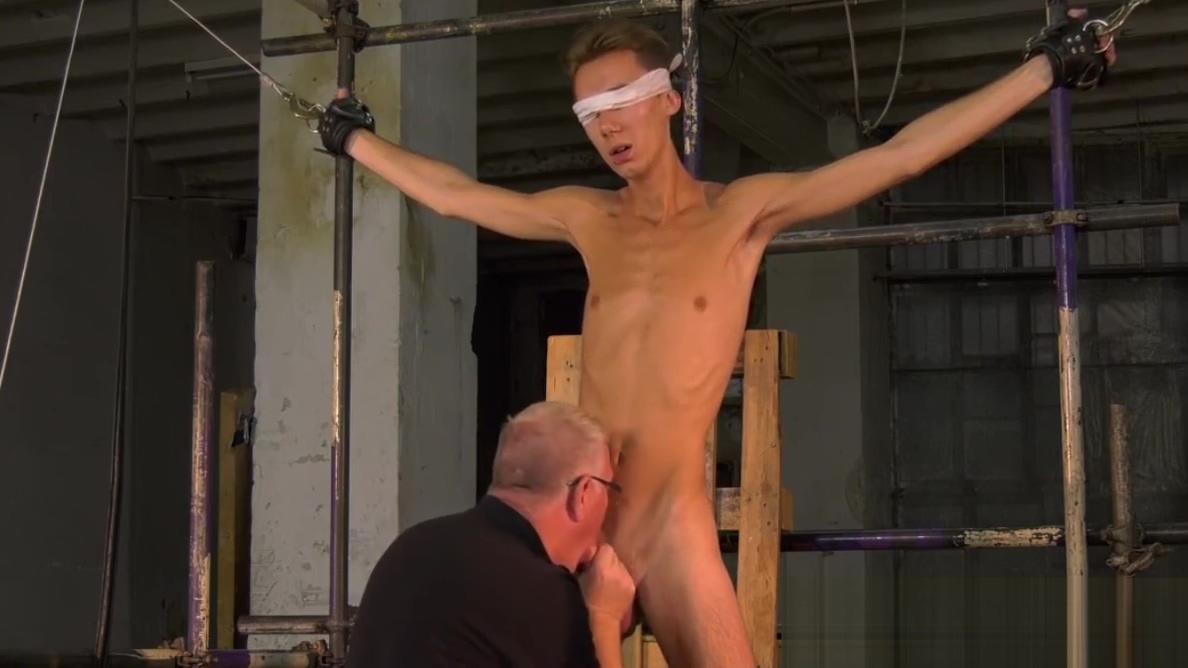 Skinny twink Jay McDally tormented with blowjob in bondage How to increase sex performance