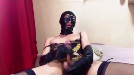 Masked crossdresser gay is wanking on camera Viola starr