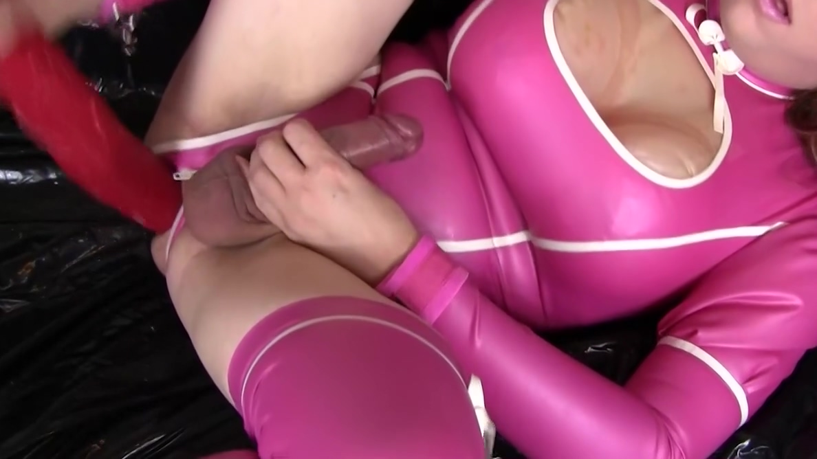 Fucking my ass with a huge dildo dressed in pink latex teacher want to fuck student video