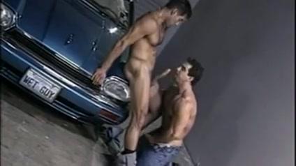 Latin gay makes love to his boyfriend fucking an orange
