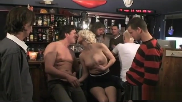 gangbang at the cocktail bar Amy addam sexy boobs legs