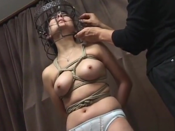 Subtitled Japanese CMNF BDSM nose hook bird cage play homemade wife cum facials