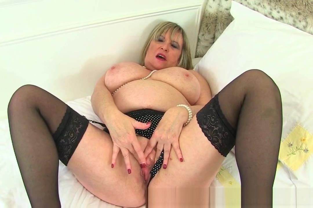 British granny Alisha Rydes loves wearing stockings when she masturbates lesbian forced to fuck