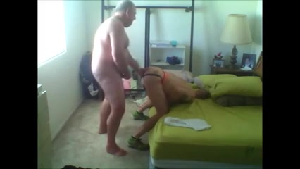 White Chubby Daddy Breeds ATM Latino MuscleBitch Sexy legs nylons