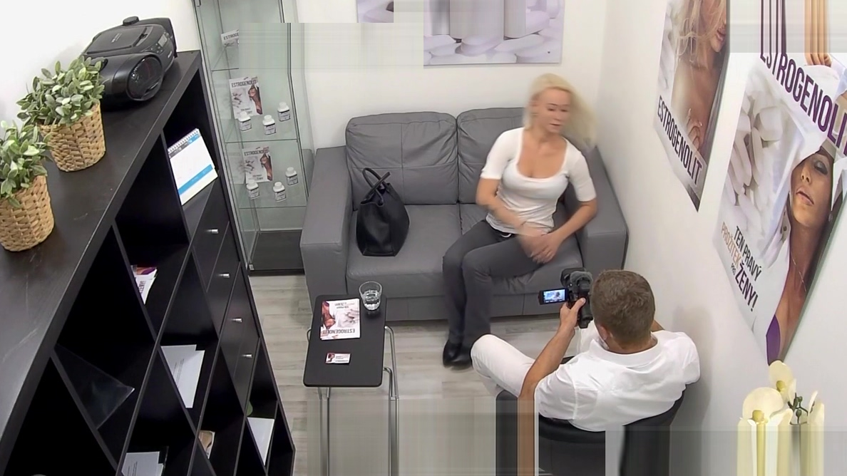 Busty Blonde Seduces Her Doctor The naked edge